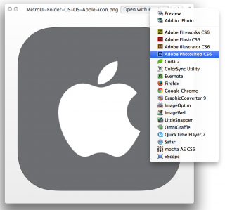 OS X, Quick Look, open file in other applications